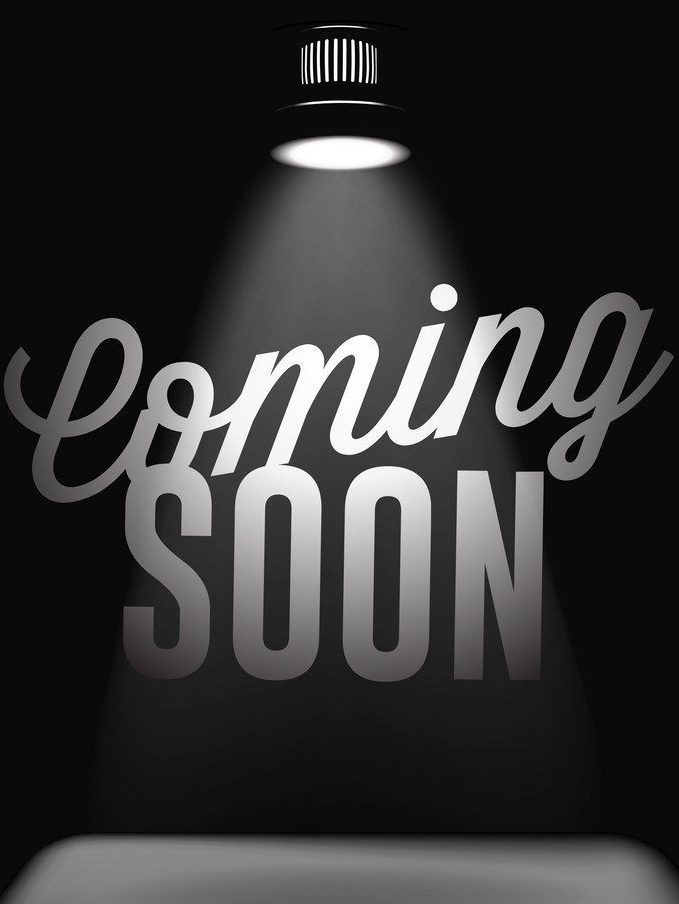 spot light on coming soon text