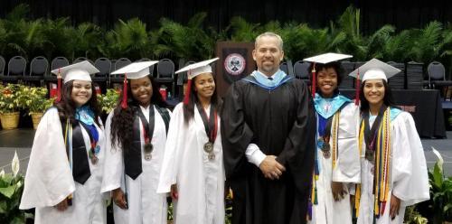 Southridge Principal with Students